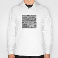 cows Hoodies featuring cows 2 by Stefan Stettner