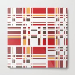 Fourth Dimension Red Plaid Metal Print