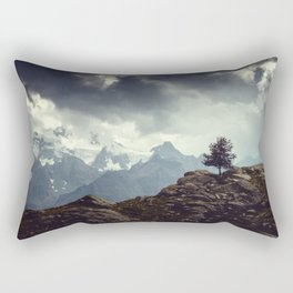 Majestic Mountains and a lone tree Rectangular Pillow