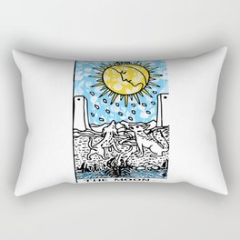 Floral Tarot Print - The Moon Rectangular Pillow