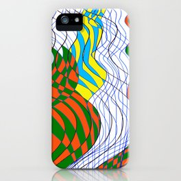 Waves Lines Black and Blue Lines - Colored iPhone Case