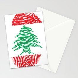 Lebanon Flag Finger print Stationery Cards