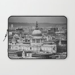 Aerial View of St Paul's Cathedral in Black & White Laptop Sleeve