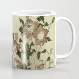 Hokusai – campanula and odonata -insect,flower, nature,garden Coffee Mug