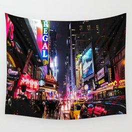 New York City Night Wall Tapestry