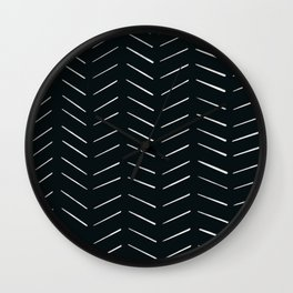 MOD_RepeatBrokenArrows_Charcoal Wall Clock