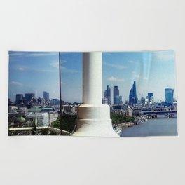London Cityscape Beach Towel