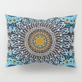Calligraphic Boho (Blue) Pillow Sham