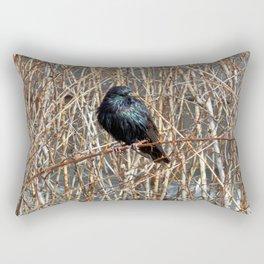 Starling On Dry Arrangement Rectangular Pillow
