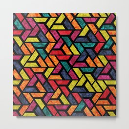 Seamless Colorful Geometric Pattern XI Metal Print