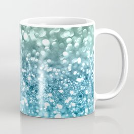 Seafoam Aqua Ocean MERMAID Girls Glitter #4 #shiny #decor #art #society6 Coffee Mug
