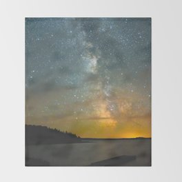 Milky Way Galaxy in Manitoba Throw Blanket