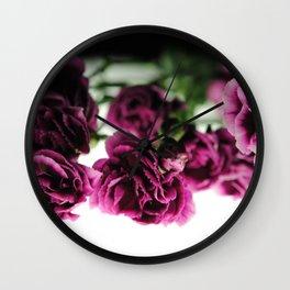 Purple Carnations Wall Clock