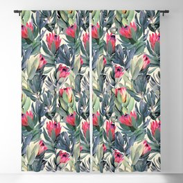 Painted Protea Pattern Blackout Curtain