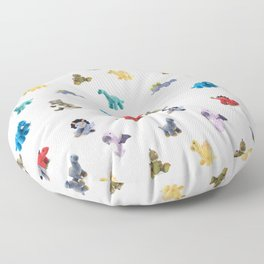 Ten Plush Dinos Pattern Floor Pillow