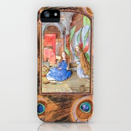 Annunciation - Master of Mary of Burgundy iPhone Case