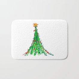 Abstract Christmas Tree Art Bath Mat