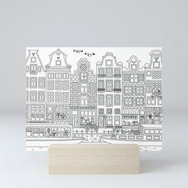 Amsterdam Line Art Mini Art Print