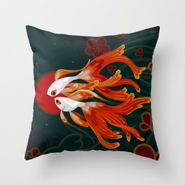 Two comets Throw Pillow