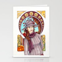 thanksgiving Stationery Cards featuring Happy Thanksgiving by kamicokrolock
