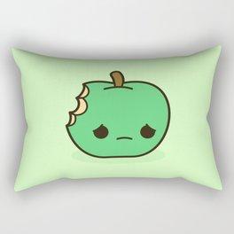 Cute sad apple Rectangular Pillow