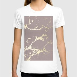 Kintsugi Ceramic Gold on Red Earth T-shirt
