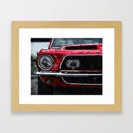 Fast Car Framed Art Print