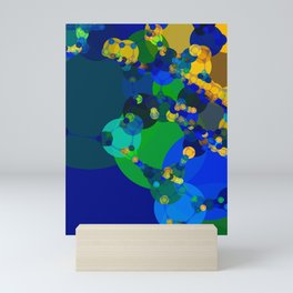raelyn - abstract design of royal blue kelly green bright sunshine yellow teal Mini Art Print