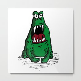 Mad Frog goin crazy Metal Print