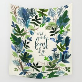 Into the Forest Watercolor Wall Tapestry