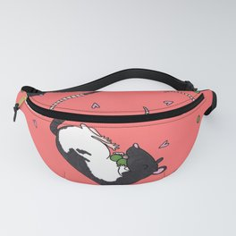 Rats & peas -coral red Fanny Pack