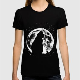 Cat Moon Silhouette T-shirt