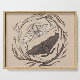 Peppered Moths Serving Tray