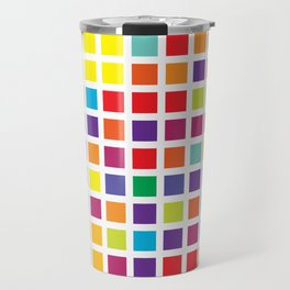 City Blocks - Rainbow #494 Travel Mug