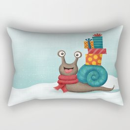 Holiday Snail Rectangular Pillow