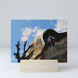 Sagrada Familia from The Side Mini Art Print