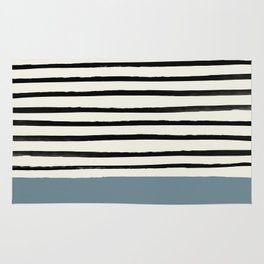Dusty Blue x Stripes Rug