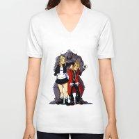 fullmetal V-neck T-shirts featuring Fullmetal Alchemist by Mika