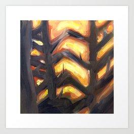 Sun Through the Branches Art Print