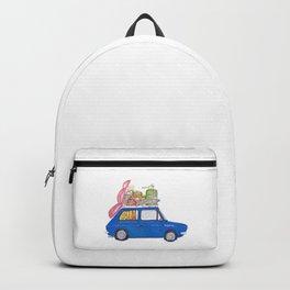 Blue Vintage car Backpack