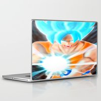 goku Laptop & iPad Skins featuring SSGSS Goku by AmaterasuVG
