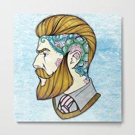 Hipster Man Metal Print
