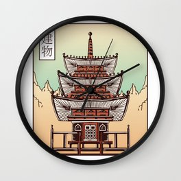 Japanese Building Wall Clock