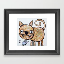 Secret meeting Framed Art Print