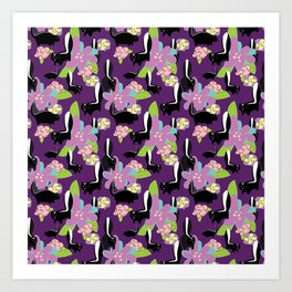 Spring Skunks Art Print