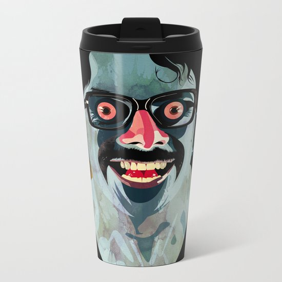 Portrait of Alonso Quijada Metal Travel Mug