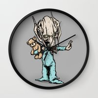 onesie Wall Clocks featuring General Onesie by Albert F. Montoya