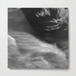 Brave mountain river at night Metal Print