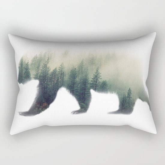 Grizzly Bear Dream Rectangular Pillow