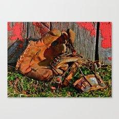 Old School Baseball Canvas Print